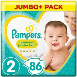 Pampers 2 (4-8kg) Premium Protection – 86pcs