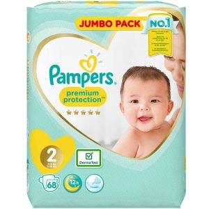 Pampers 2 (4-8kg) Premium Protection – 68pcs